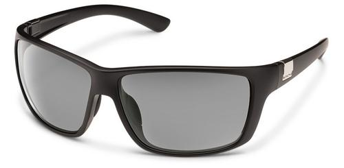 Suncloud Optics Councilman Sunglasses Matte Black with Polar Grey Lens