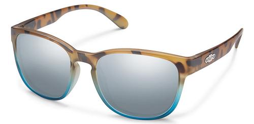 Suncloud Optics Loveseat Sunglasses Matte Tortoise Blue Fade with Silver Lens