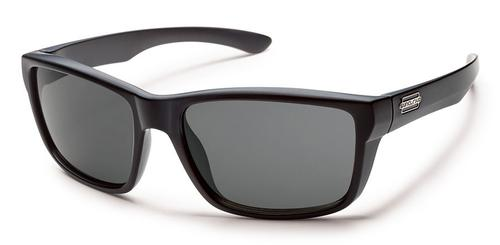 Suncloud Optics Mayor Sunglasses Matte Black with Polar Grey Lens