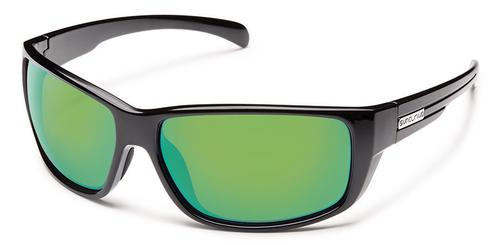 Suncloud Optics Milestone Sunglasses Black with Polar Green Lens