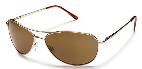 Suncloud Optics Patrol Sunglasses Gold with Polar Brown Lens