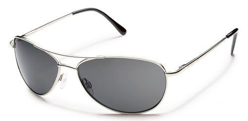 Suncloud Optics Patrol Sunglasses Silver with Polar Grey Lens