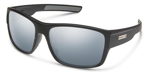 Suncloud Optics Range Sunglasses Matte Black with Silver Mirror Lens