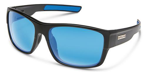 Suncloud Optics Range Sunglasses Black with Blue Mirror Lens