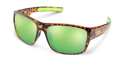 Suncloud Optics Range Sunglasses Tortoiseshell with Polar Green Mirror Lens