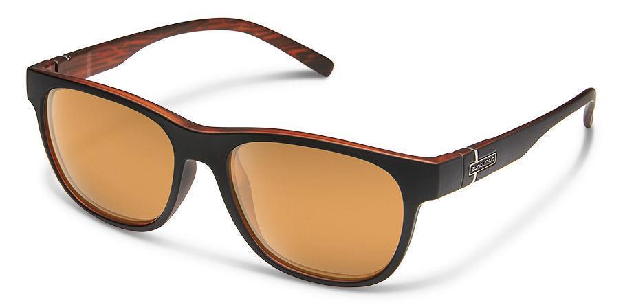 Suncloud Optics Scene Sunglasses Matte Black Backpaint With Copper Mirror Lens