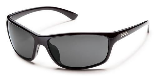 Suncloud Optics Sentry Sunglasses Black with Polar Grey Lens