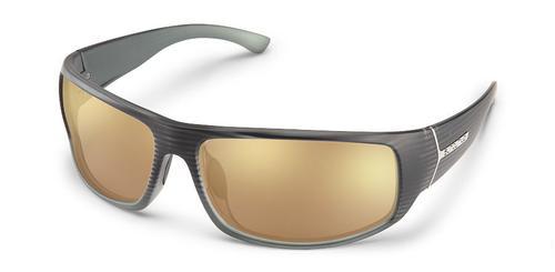 Suncloud Optics Turbine Sunglasses Burnished Grey with Polar Sienna Mirror Lens