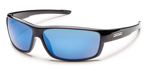 Suncloud Optics Voucher Sunglasses Black with Polar Blue Mirror Lens