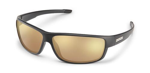 Suncloud Optics Voucher Sunglasses Matte Black with Polar Sienna Mirror Lens