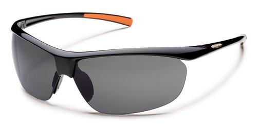 Suncloud Optics Zephyr Sunglasses Black with Polar Grey Lens