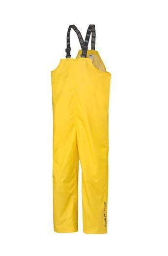 Helly Hansen Workwear Men's Mandal Waterproof Rain Pant Bib Overalls YELLOW