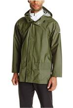 Helly Hansen Workwear Men's Mandal Durable Waterproof Hooded Rain Coat GREEN