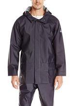 Helly Hansen Workwear Men's Mandal Durable Waterproof Hooded Rain Coat NAVY