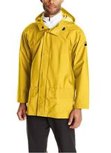Helly Hansen Workwear Men's Mandal Durable Waterproof Hooded Rain Coat YELLOW