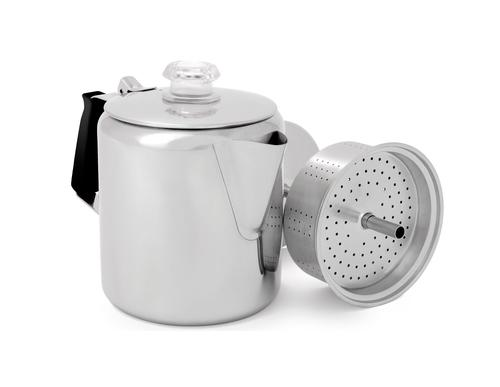 GSI Outdoors Glacier Stainless 6 Cup Percolator with Silicone Handle