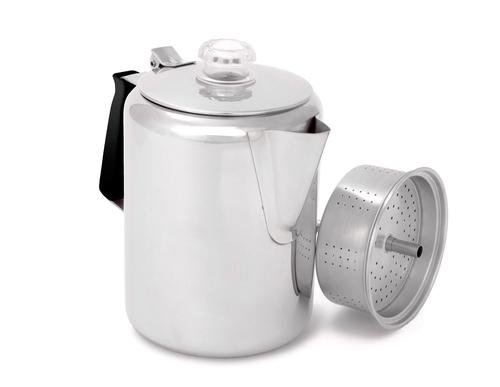 GSI Outdoors Glacier Stainless 9 Cup Percolator with Silicone Handle
