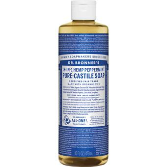 Dr Bronner's Peppermint Castille Soap 16oz