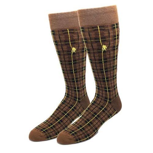Bigfoot Sock Company Bamboo Highland Socks in Brown