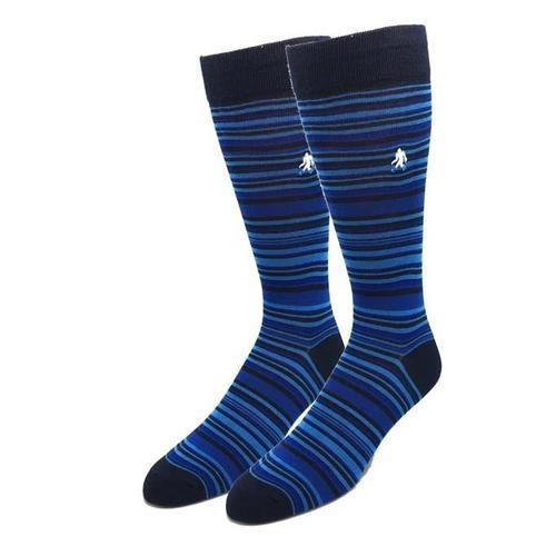 Sock Harbor Bamboo Mini Stripe Socks in Navy