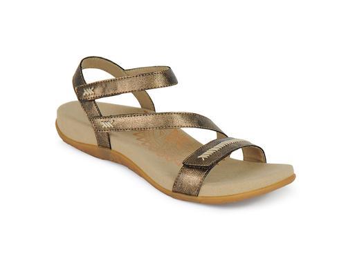 Aetrex Women's Gabby Quarter Strap Sandal in Bronze