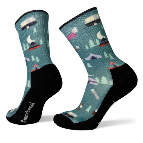 Smartwool Women's Hike Light Summer Nights Print Crew Socks