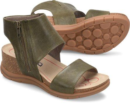 Bionica Women's Palotina Wedge Sandal in Army Green