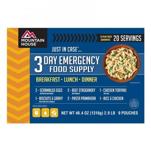 Mountain House Just in Case 3 Day Emergency Food Supply