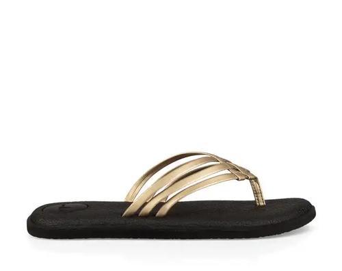Sanuk Women's Yoga Salty Metallic Flip Flops