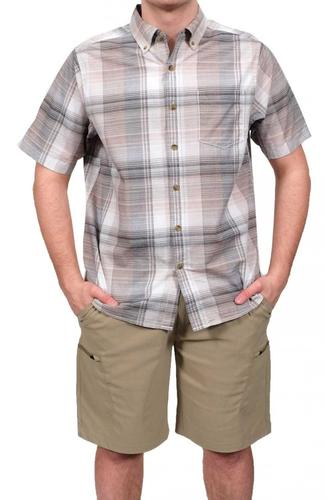 North River Men's Crosshatch Woven Shirt