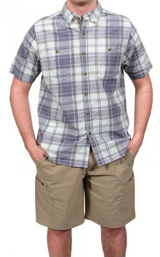 North River Men's Pigment Madras Woven Shirt