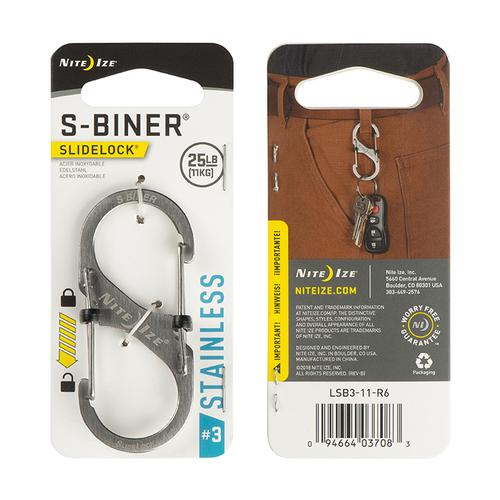 Nite Ize #3 S-Biner Slidelock Stainless Steel