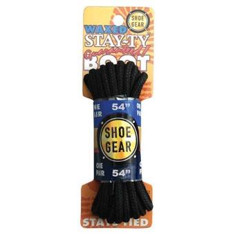 Shoe Gear Stay Ty Waxed Boot Lace 54in Black
