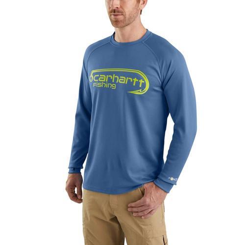 Carhartt Men's Force Fishing Graphic Tee Long Sleeve