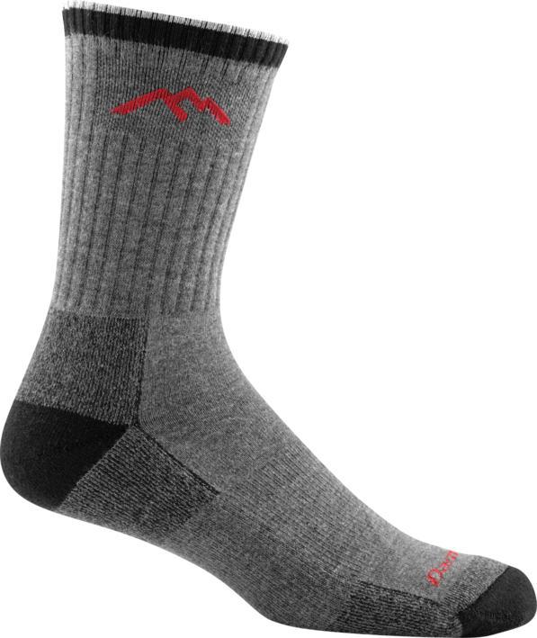 Darn Tough Coolmax Micro Crew Cushion Hiker Sock GREY/BLACK