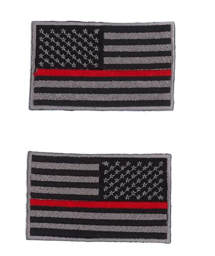 Kenco Customs Fallen Firefighter Thin Red Line Flag Patch