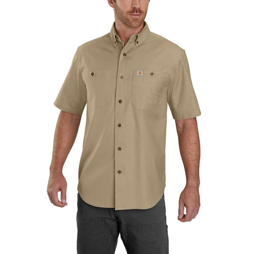 Carhartt Men's Rugged Flex Rigby Short Sleeve Work Shirt DARK_KHAKI