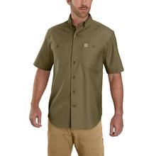 Carhartt Men's Rugged Flex Rigby Short Sleeve Work Shirt MILITARY_OLIVE