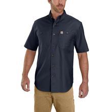 Carhartt Men's Rugged Flex Rigby Short Sleeve Work Shirt NAVY