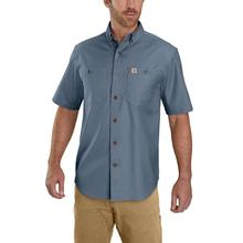 Carhartt Men's Rugged Flex Rigby Short Sleeve Work Shirt STEEL_BLUE