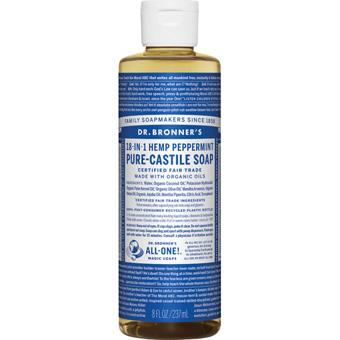 Dr Bronner's Peppermint Castille Soap 8oz