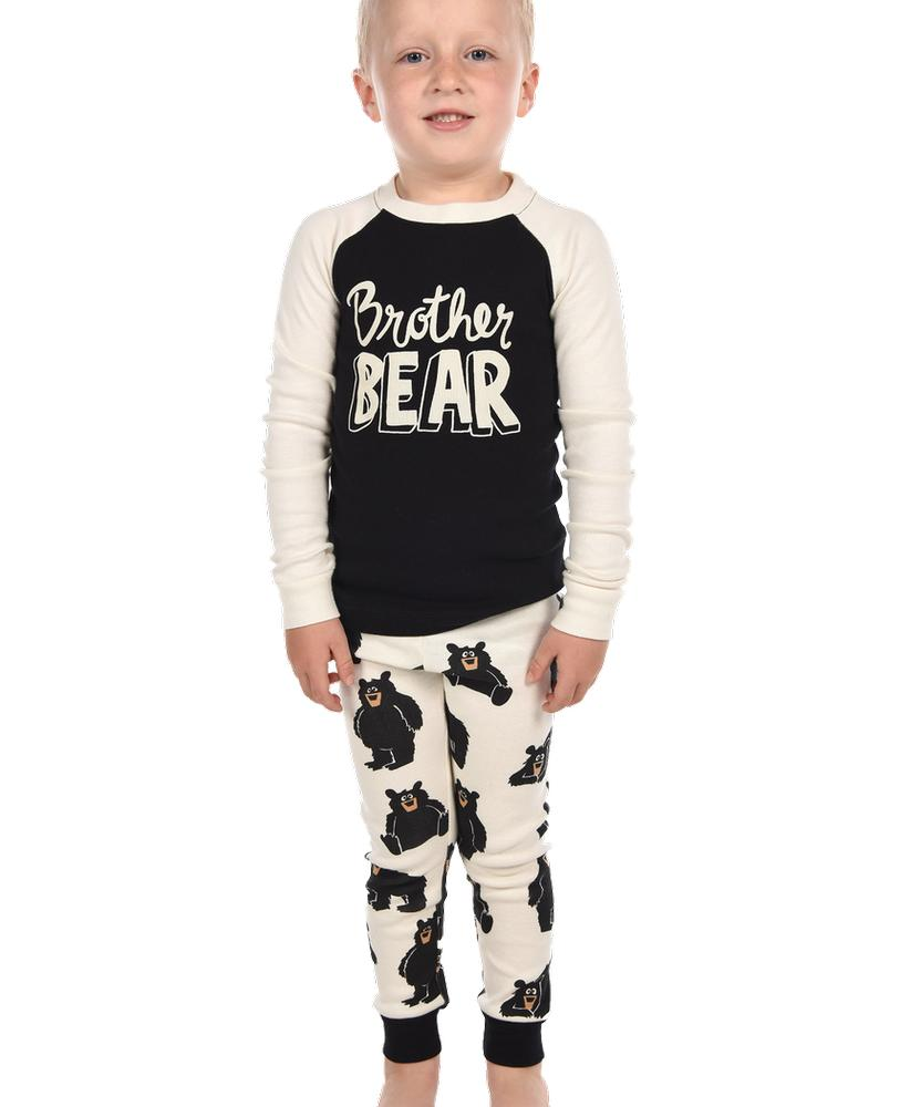 Lazy One Boys ' Brother Bear Long Sleeve Pajama Set