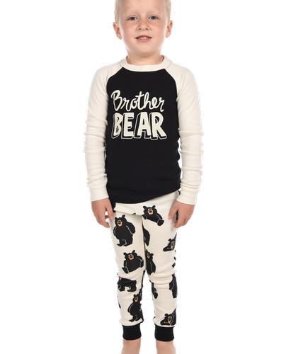 Lazy One Boys' Brother Bear Long Sleeve Pajama Set