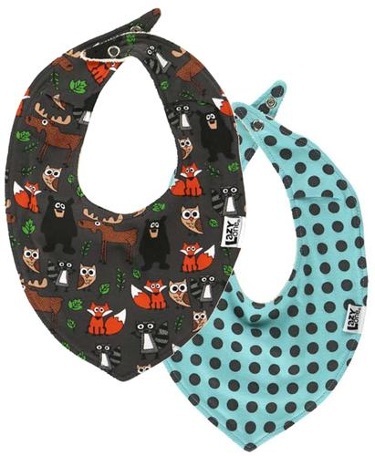 Lazy One Infants' Born to be Wild Bandanna Bib 2 Pack