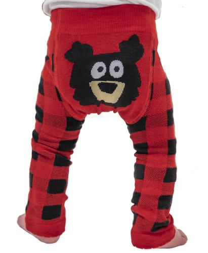 Lazy One Infants' Bear Plaid Legging