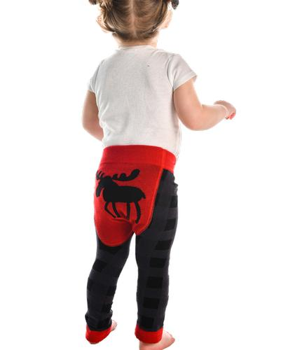 Lazy One Infants' Moose Plaid Legging