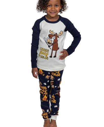 Lazy One Kids' Long Sleeve Smore Sleep Please Pajama Set