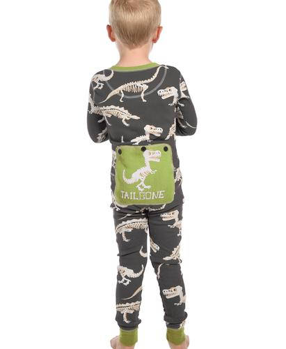 Lazy One Kids' Tail Bone Flapjacks Pajama Onesie