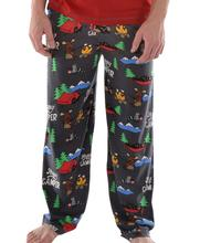 Lazy One Men's Happy Camper Pajama Pants CAMPERBLACK