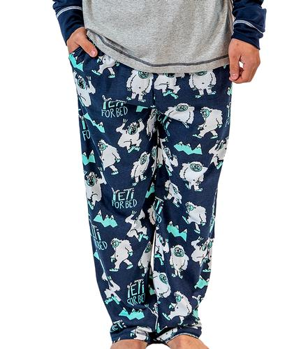 Lazy One Men's Yeti for Bed Pajama Pants